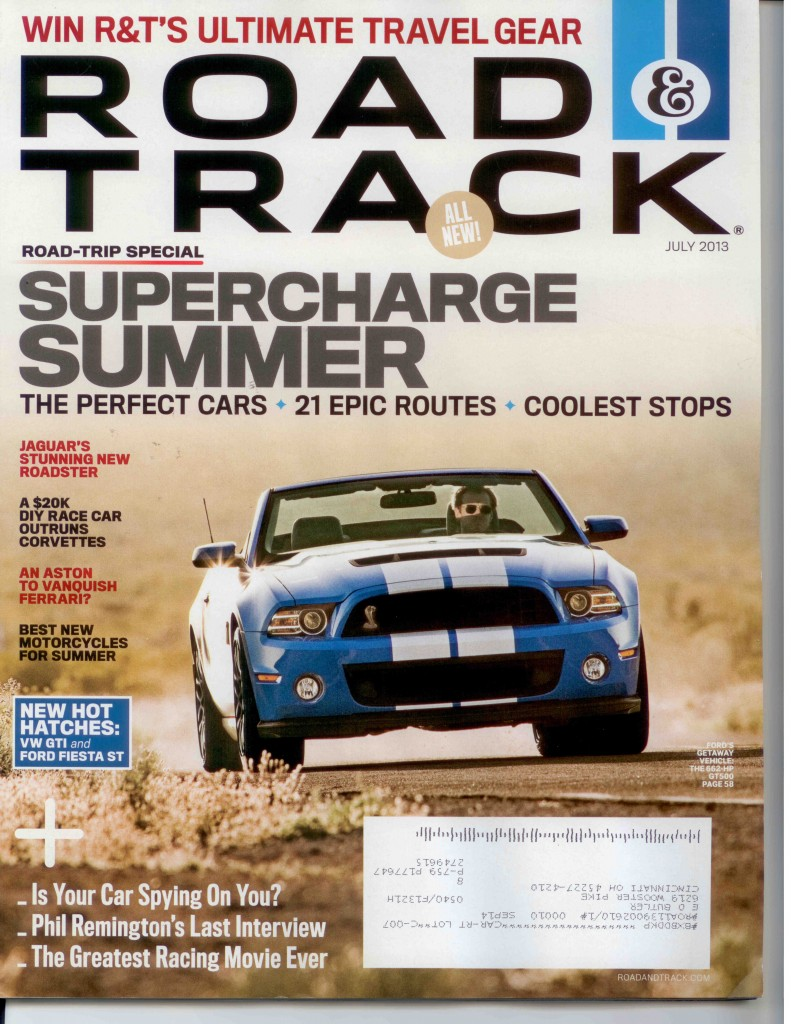 Road & Track July 2013 Cover